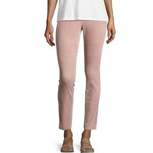Theory Navalane Casual Velvet Stretch Pants Pink 0